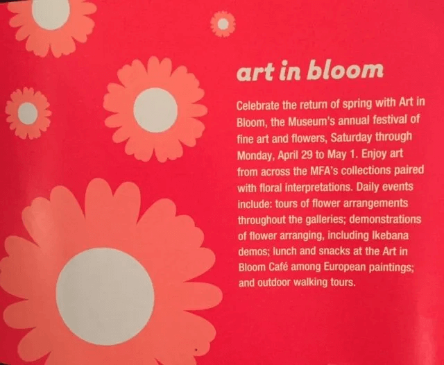 Art in Bloom at the Museum of Fine Arts