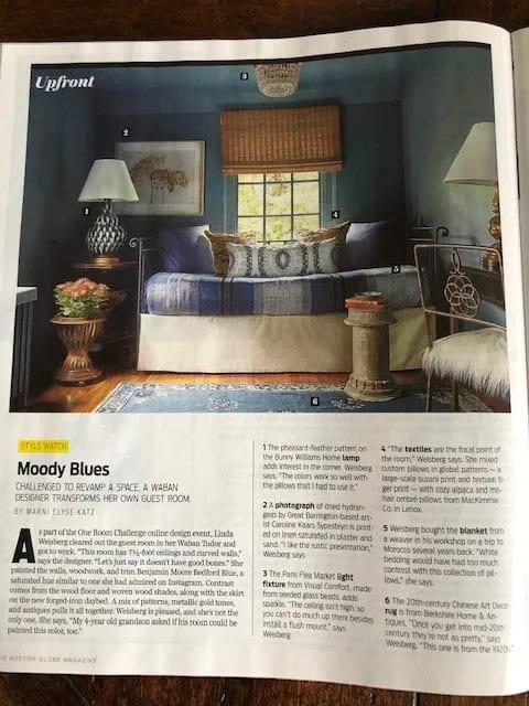 LW Interiors in Boston Globe Magazine Style Watch  3/10/19