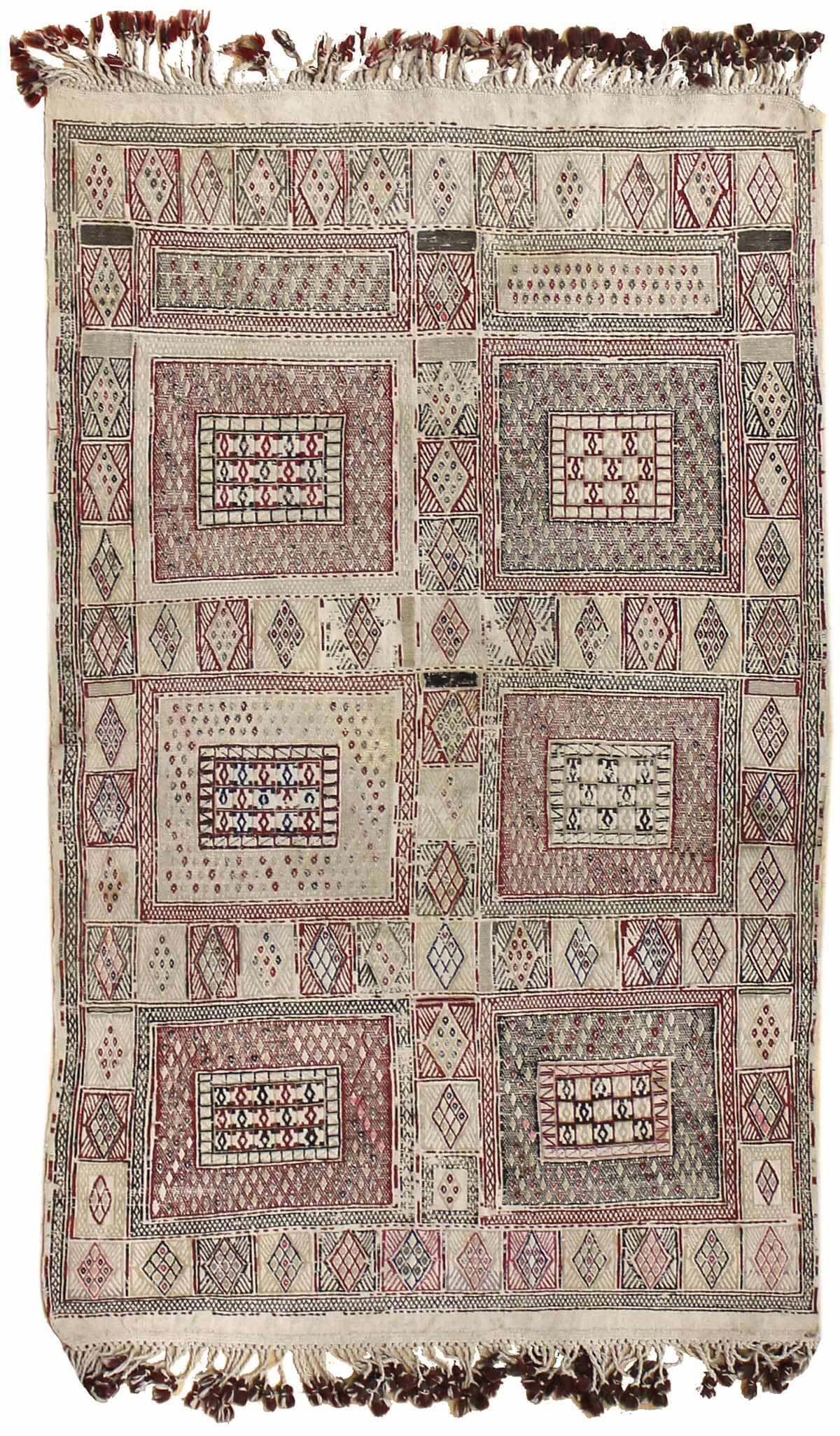 Jf6434 Antique Moroccan Kilim Rug 1920w