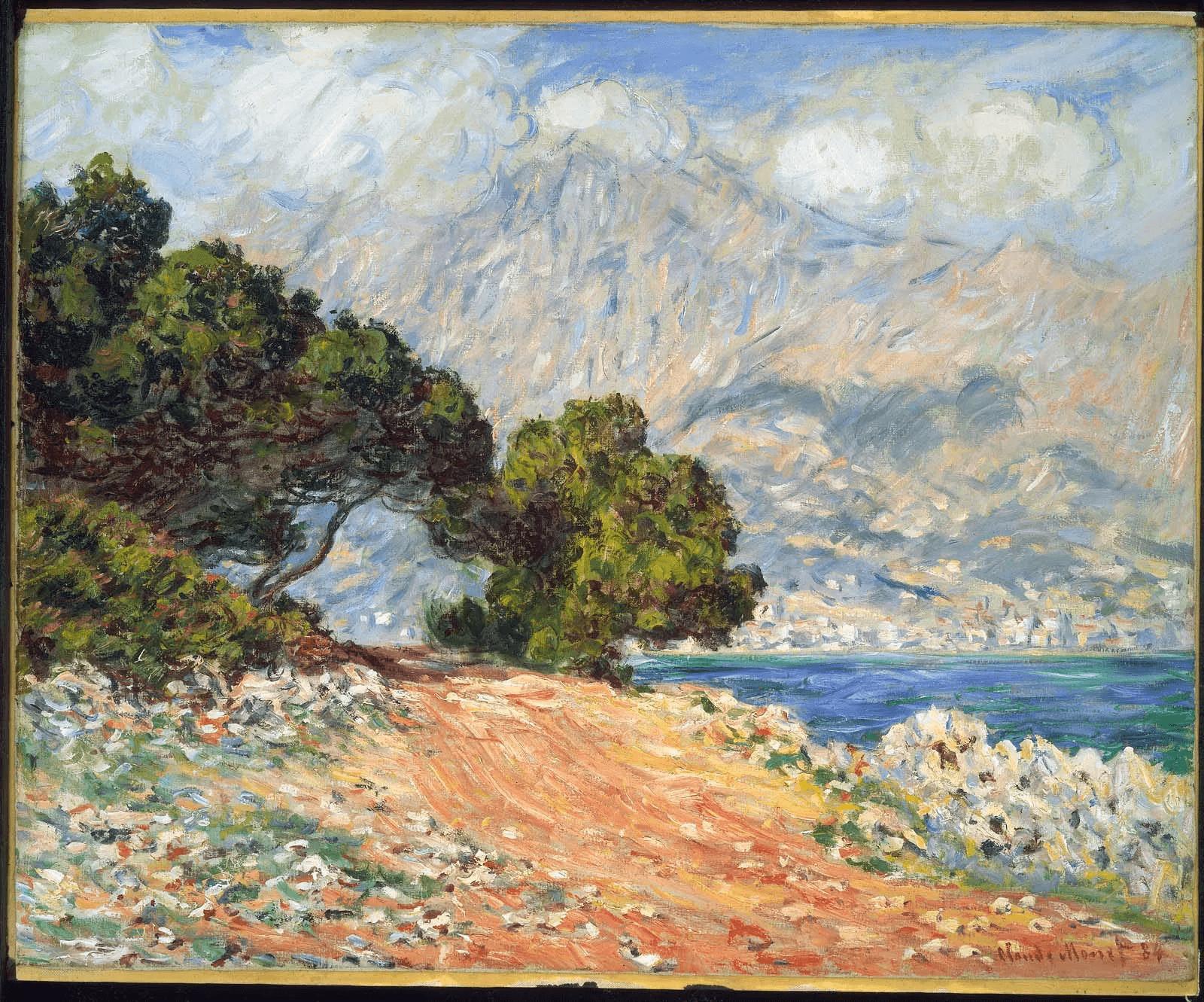 Monet+cape+menton+painting 1920w