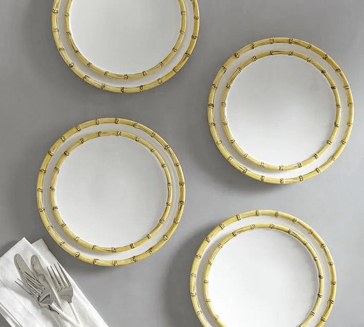 Bamboo Melamine Dinnerware Set Of 4 O 1920w