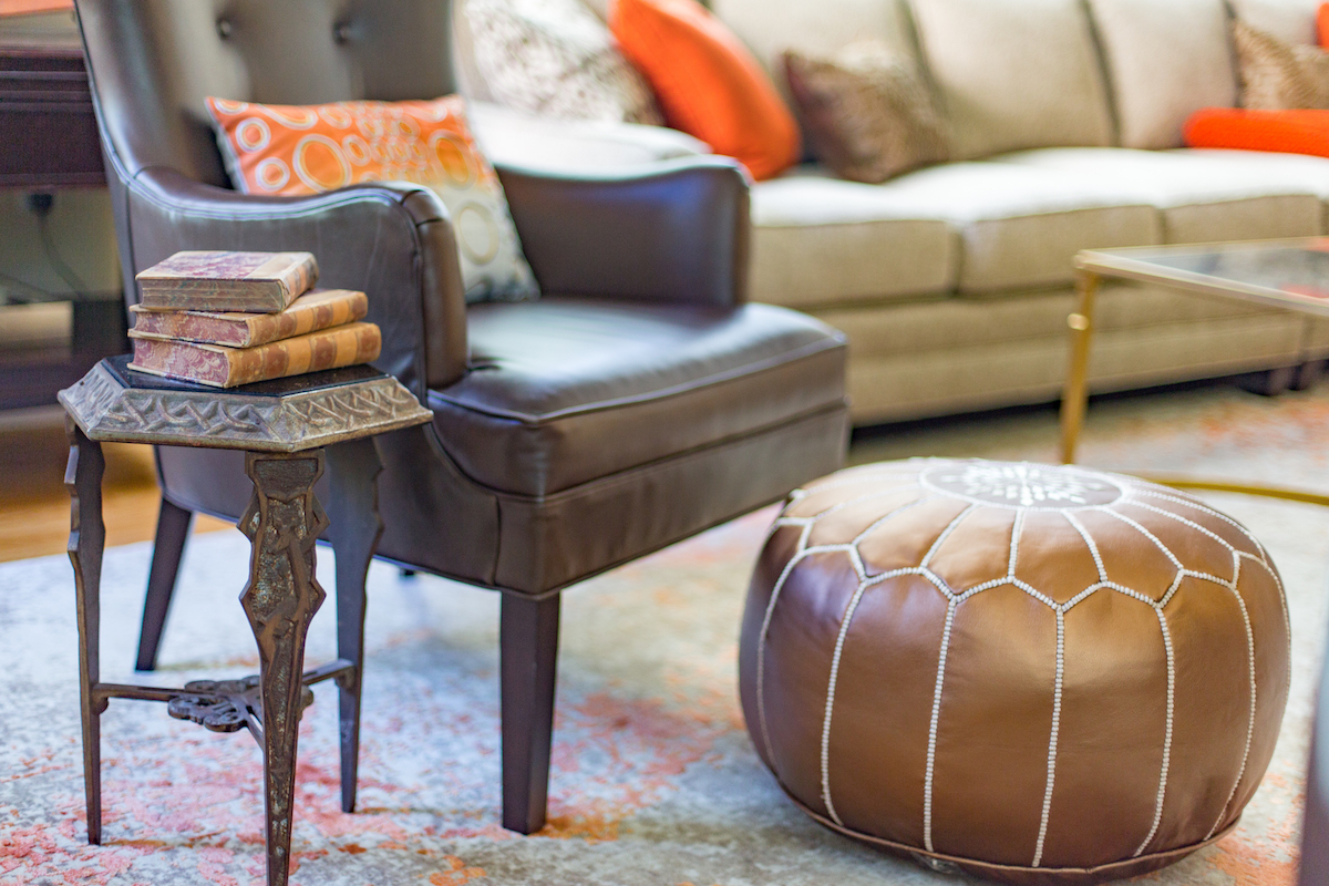 leather-accent-chair-round-leather-ottoman
